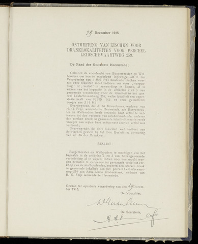 Raadsnotulen Heemstede 1915-12-29