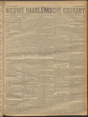 Nieuwe Haarlemsche Courant 1919-04-25