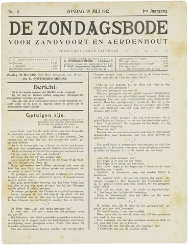 De Zondagsbode voor Zandvoort en Aerdenhout 1912-05-19