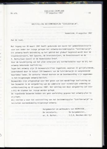 Raadsnotulen Heemstede 1987-08-27