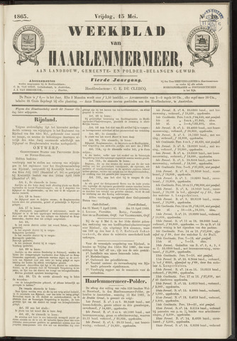 Weekblad van Haarlemmermeer 1863-05-15