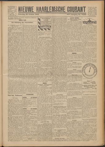 Nieuwe Haarlemsche Courant 1922-10-28