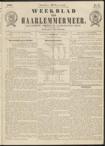 Weekblad van Haarlemmermeer 1868-01-10