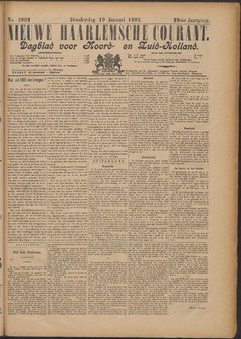 Nieuwe Haarlemsche Courant 1905-01-19