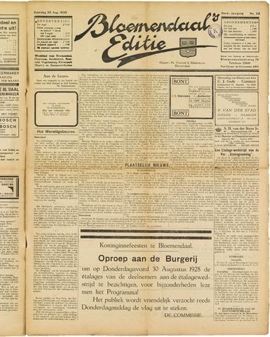 Bloemendaal's Editie 1928-08-25