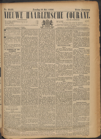 Nieuwe Haarlemsche Courant 1896-05-10