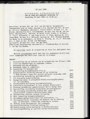Raadsnotulen Heemstede 1984-06-28