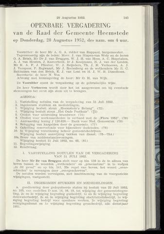 Raadsnotulen Heemstede 1952-08-28