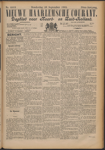 Nieuwe Haarlemsche Courant 1905-09-28