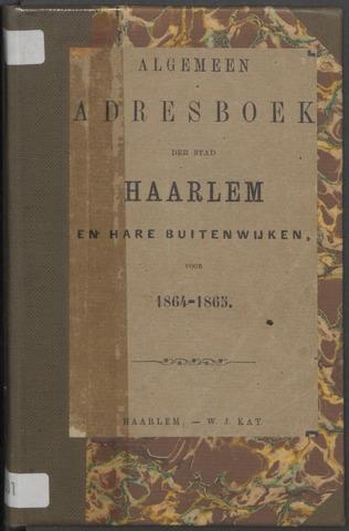 Adresboeken Haarlem 1864