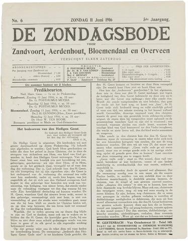 De Zondagsbode voor Zandvoort en Aerdenhout 1916-06-11