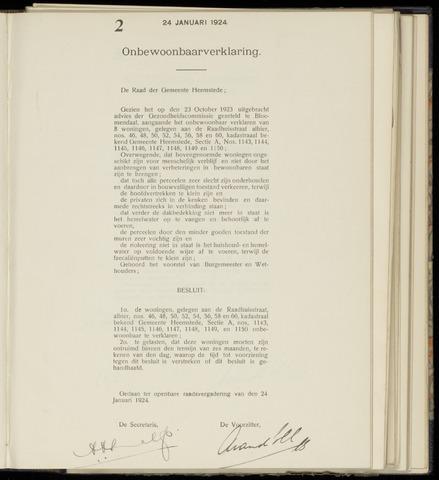 Raadsnotulen Heemstede 1924-01-24