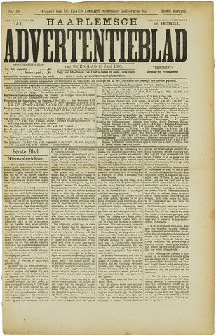 Haarlemsch Advertentieblad 1888-06-20
