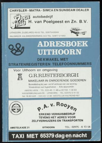 Adresboeken Uithoorn 1981