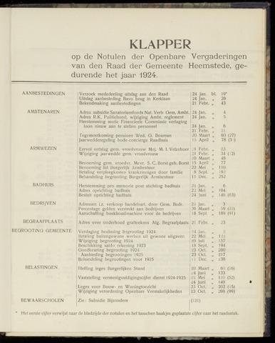 Raadsnotulen Heemstede 1924