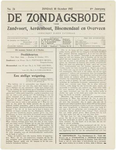 De Zondagsbode voor Zandvoort en Aerdenhout 1915-10-10