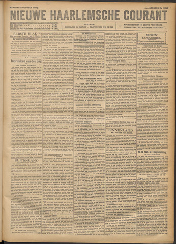 Nieuwe Haarlemsche Courant 1920-10-11