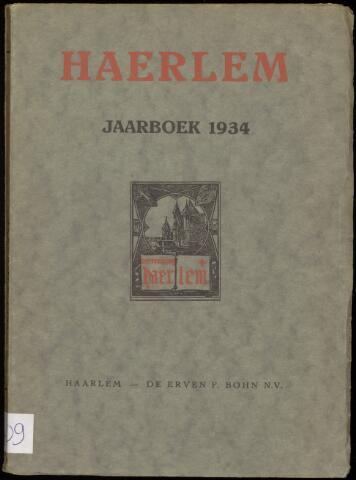 Jaarverslagen en Jaarboeken Vereniging Haerlem 1934