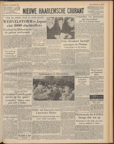Nieuwe Haarlemsche Courant 1954-09-27
