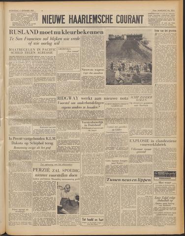 Nieuwe Haarlemsche Courant 1951-09-05