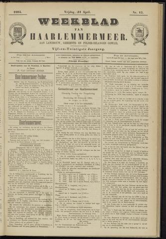 Weekblad van Haarlemmermeer 1884-04-11
