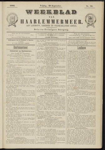 Weekblad van Haarlemmermeer 1882-09-29