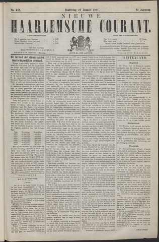 Nieuwe Haarlemsche Courant 1881-01-27