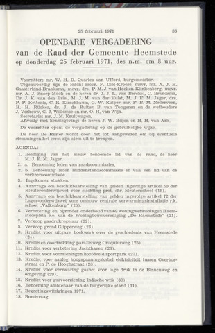Raadsnotulen Heemstede 1971-02-25