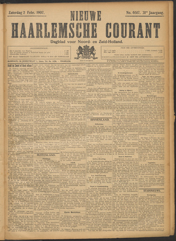 Nieuwe Haarlemsche Courant 1907-02-02