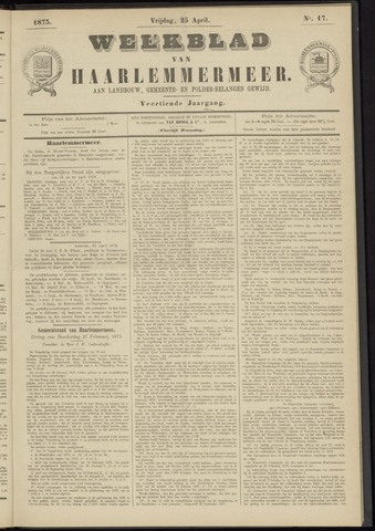 Weekblad van Haarlemmermeer 1873-04-25