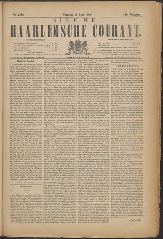 Nieuwe Haarlemsche Courant 1889-04-17