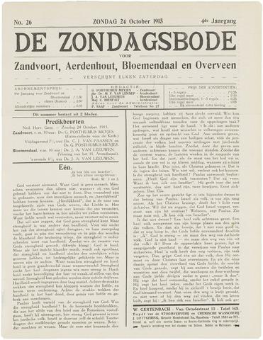 De Zondagsbode voor Zandvoort en Aerdenhout 1915-10-24