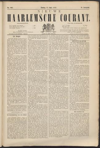 Nieuwe Haarlemsche Courant 1884-06-15