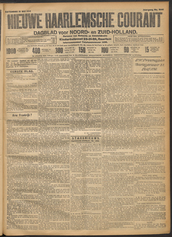Nieuwe Haarlemsche Courant 1914-05-16