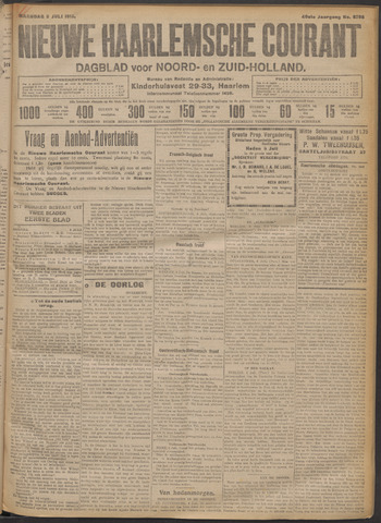 Nieuwe Haarlemsche Courant 1915-07-05