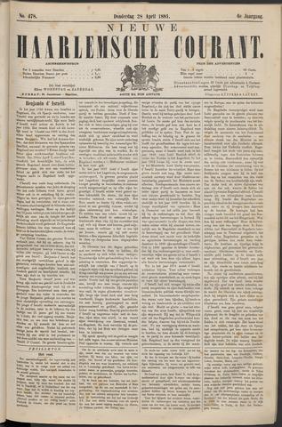 Nieuwe Haarlemsche Courant 1881-04-28
