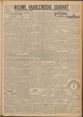 Nieuwe Haarlemsche Courant 1922-11-29