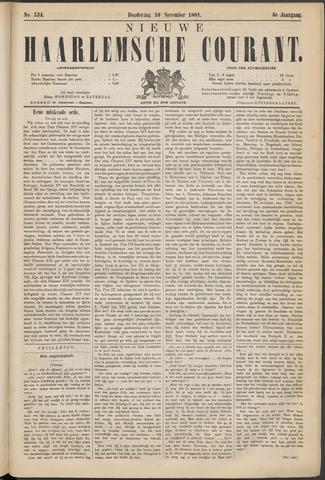 Nieuwe Haarlemsche Courant 1881-11-10