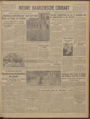 Nieuwe Haarlemsche Courant 1948-04-08