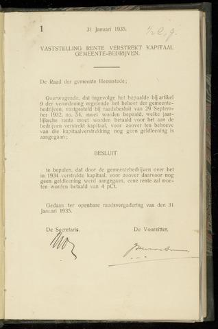 Raadsnotulen Heemstede 1935-01-31