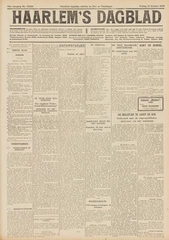 Haarlem's Dagblad 1926-10-15