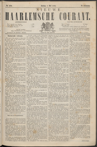 Nieuwe Haarlemsche Courant 1881-05-01