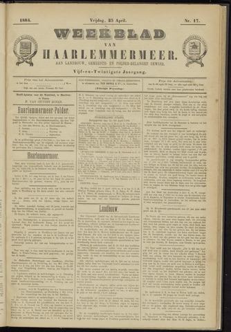 Weekblad van Haarlemmermeer 1884-04-25