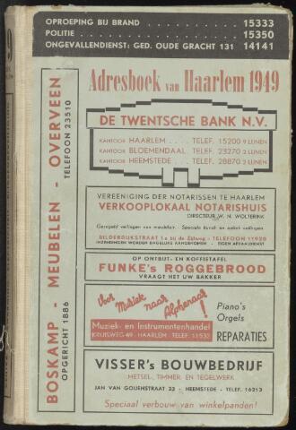 Adresboeken Haarlem 1949