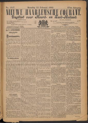 Nieuwe Haarlemsche Courant 1903-02-23