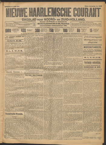 Nieuwe Haarlemsche Courant 1914-06-16