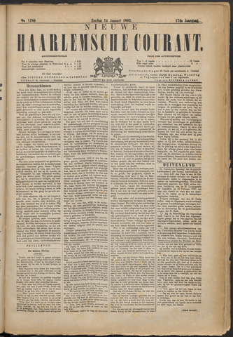 Nieuwe Haarlemsche Courant 1892-01-24