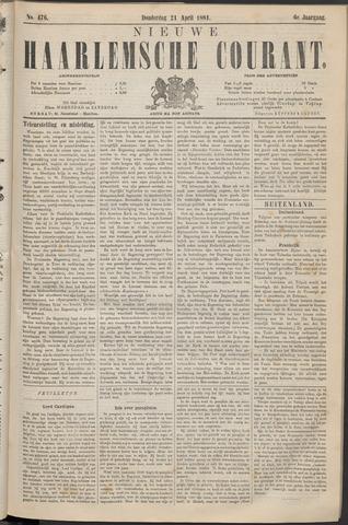 Nieuwe Haarlemsche Courant 1881-04-21