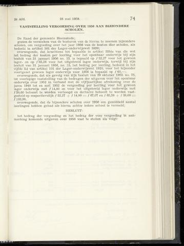 Raadsnotulen Heemstede 1959-05-28