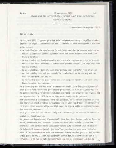 Raadsnotulen Heemstede 1979-09-27